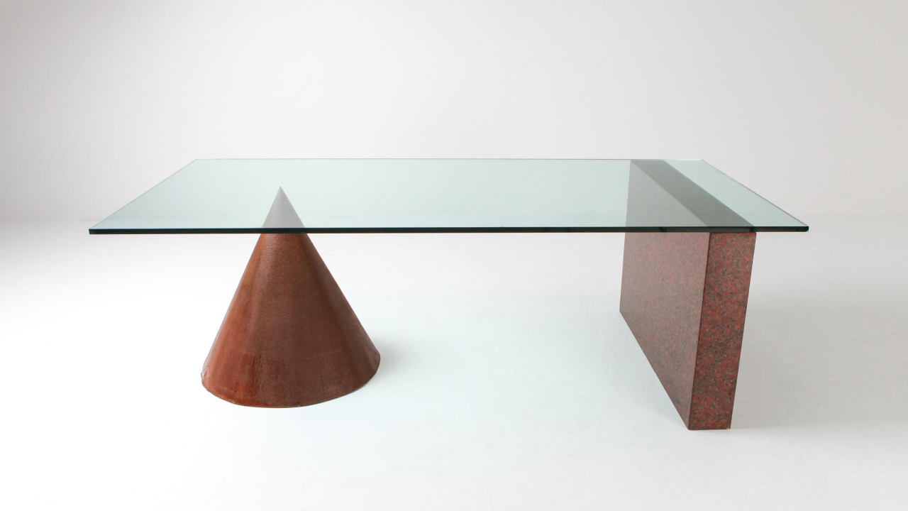 a geometric table designed by vignelli