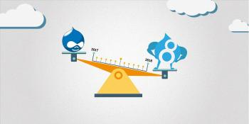 Drupal 8 outweighing Drupal 7 on a scale