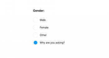 Gender on Froms