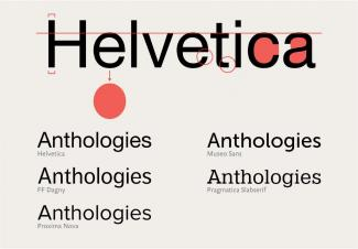Examples of alternatives to Helvetica based on Helvetica's physical characteristics